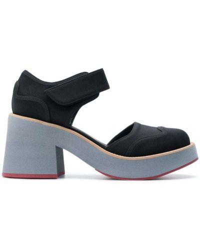 Кожаные туфли на каблуке с ремешком на щиколотке Marni
