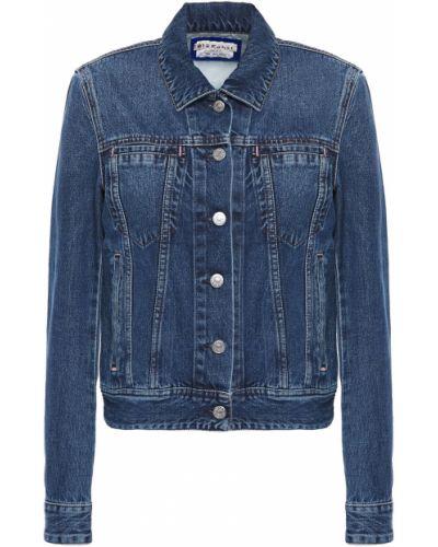 Niebieskie jeansy zapinane na guziki bawełniane Acne Studios