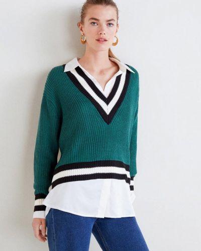 Зеленый пуловер 2018 Mango