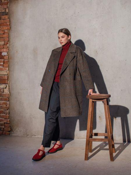 Пальто casual - зеленое Mariolli