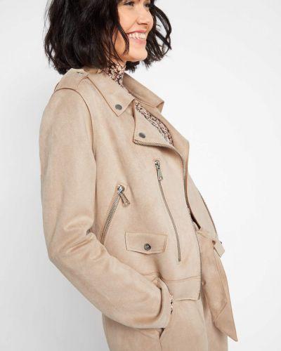 Asymetryczny długa kurtka z kołnierzem z długimi rękawami Orsay