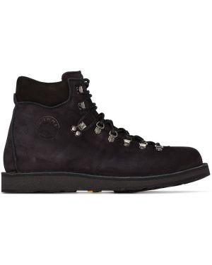 Черные кожаные ботинки на шнуровке Diemme