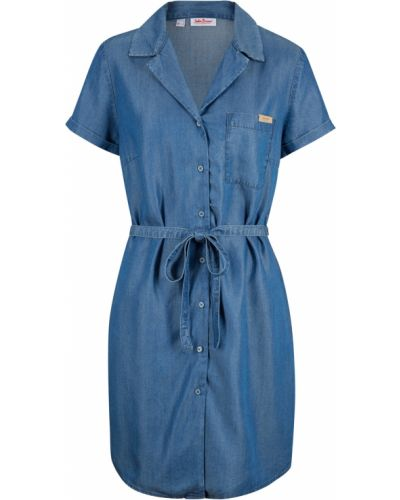 Джинсовое платье с поясом Bonprix
