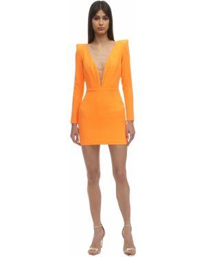 Платье макси с длинными рукавами - оранжевое Alex Perry