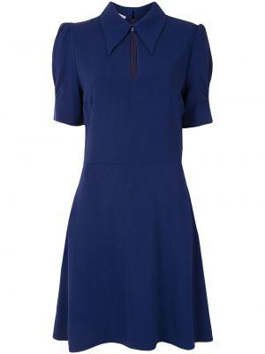 Платье мини короткое - синее Stella Mccartney
