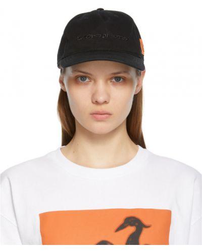 Черная кепка с вышивкой на липучках Heron Preston