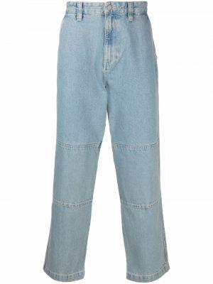 Джинсовые широкие джинсы - синие Stussy