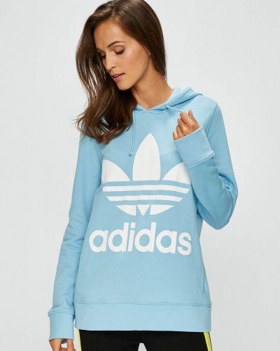 Синяя кофта с капюшоном Adidas Originals