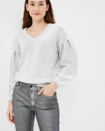 Серый пуловер Naf Naf