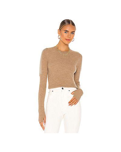 Шерстяной коричневый свитер Rag & Bone
