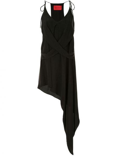 Платье с запахом - черное Strateas Carlucci