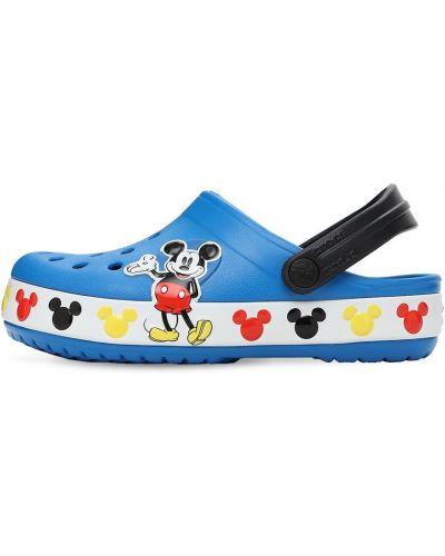 Микки маус синие с ремешком сандалии Crocs