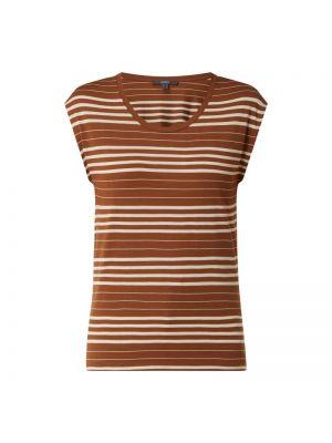 Brązowy t-shirt w paski Esprit Collection