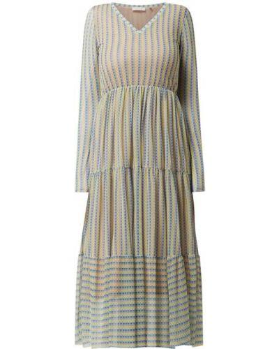 Sukienka midi z falbanami - niebieska Rich & Royal