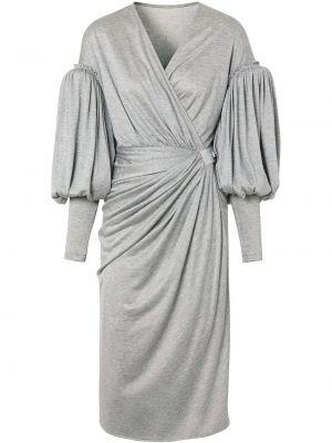 Кожаное платье - серое Burberry