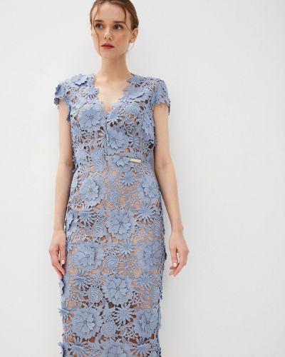 Голубое вечернее платье осеннее Rich & Naked