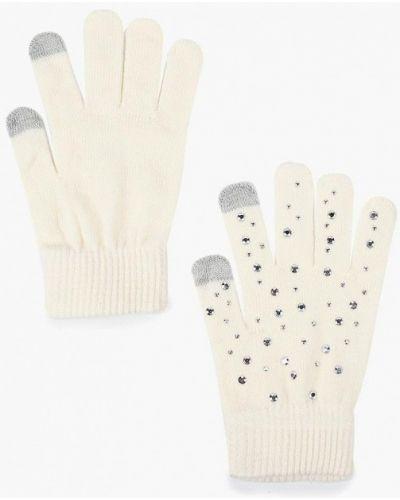 Бежевые перчатки текстильные Ovs
