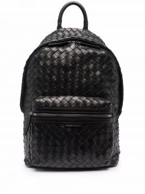 Черная плетеная сумка Officine Creative