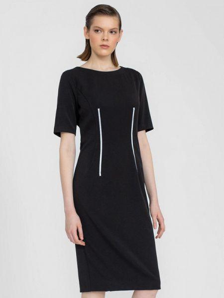 Платье прямое черное Lo