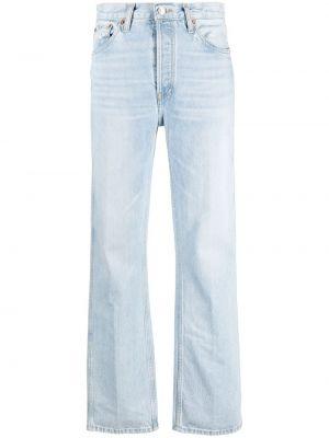Klasyczne niebieskie jeansy z wysokim stanem Re/done