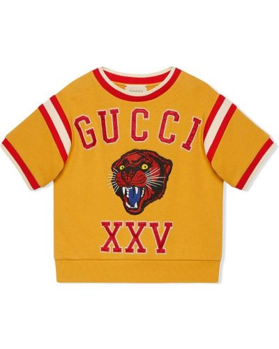 Толстовка желтый Gucci Kids