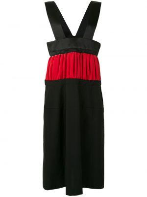 Прямое платье миди со вставками без рукавов с вырезом Comme Des Garçons