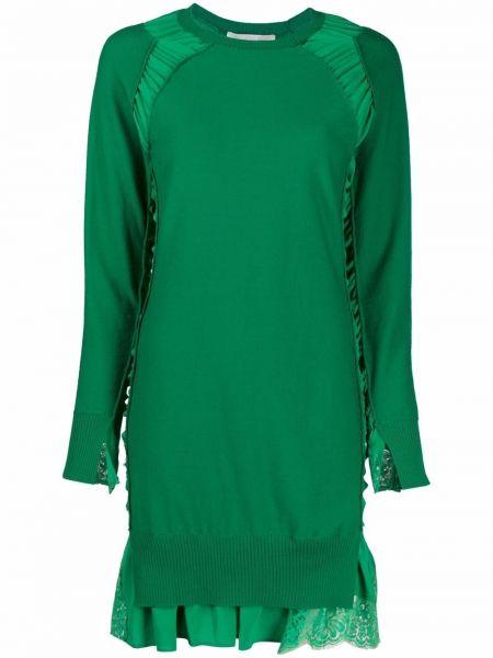 Зеленое шелковое платье макси Stella Mccartney