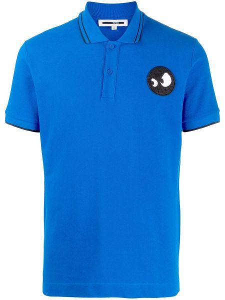 Koszula krótki rękaw - niebieska Mcq Alexander Mcqueen