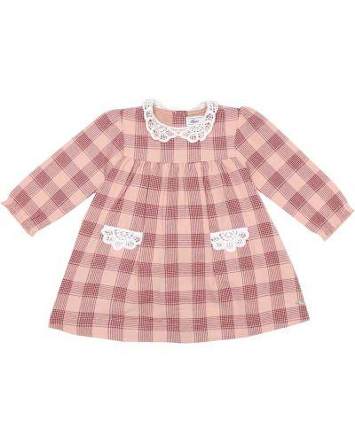 Ватное хлопковое розовое платье Tartine Et Chocolat