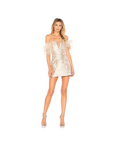 Платье мини с V-образным вырезом с люрексом Alice Mccall