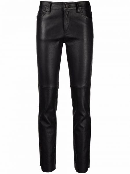 Кожаные брюки - черные Salvatore Santoro