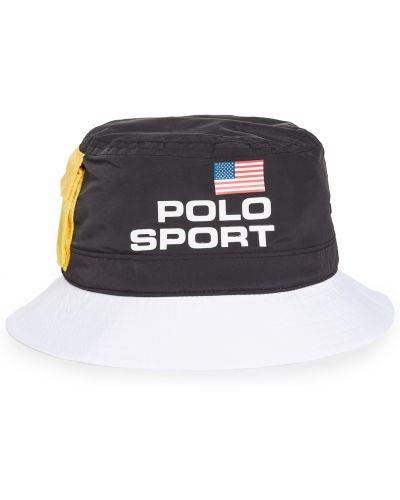 Biały kapelusz na rzepy z siateczką Polo Ralph Lauren