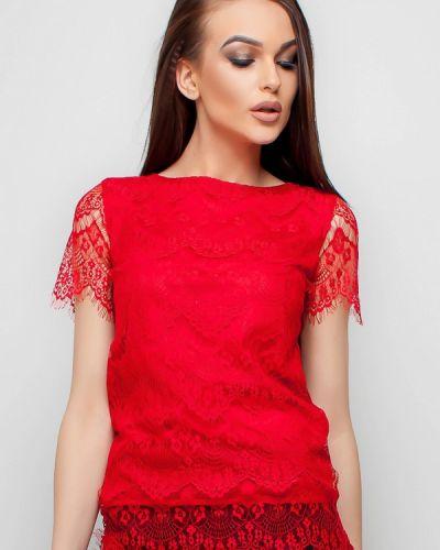 Красная блузка кружевная Karree