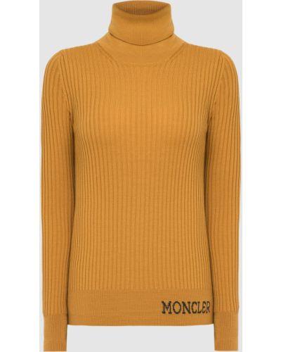 Шерстяная желтая водолазка Moncler