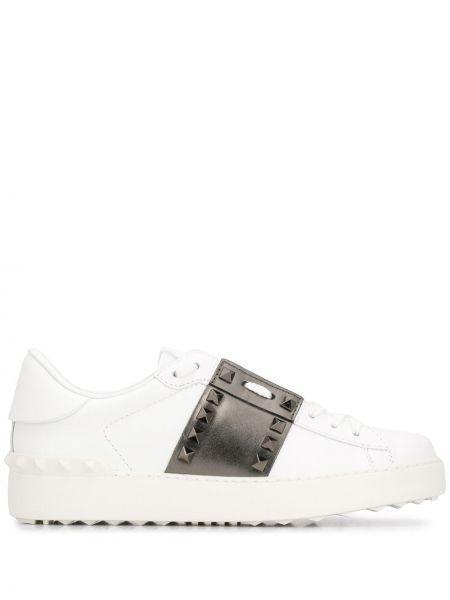 Skórzane sneakersy z logo białe Valentino