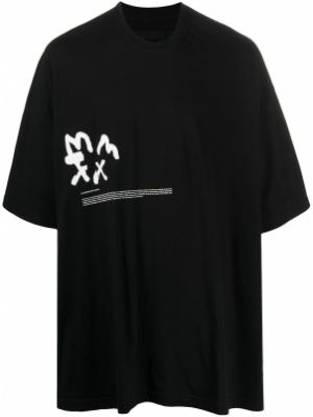Koszula krótkie z krótkim rękawem z nadrukiem czarna Julius