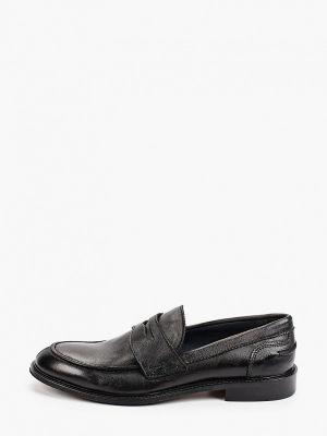 Черные кожаные лоферы F.lli Rennella