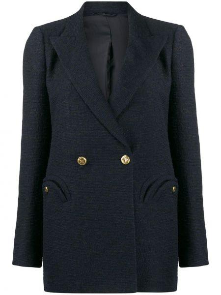 Прямая синяя куртка на пуговицах с карманами Blazé Milano