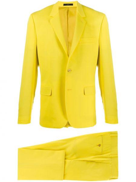 Шерстяной желтый костюмный костюм на пуговицах Paul Smith