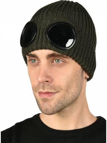 Шерстяная шапка - зеленая C.p. Company