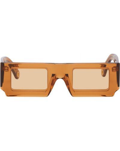 Оранжевые солнцезащитные очки прозрачные прямоугольные Jacquemus