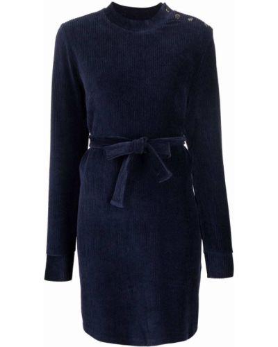 Платье макси длинное - синее A.p.c.