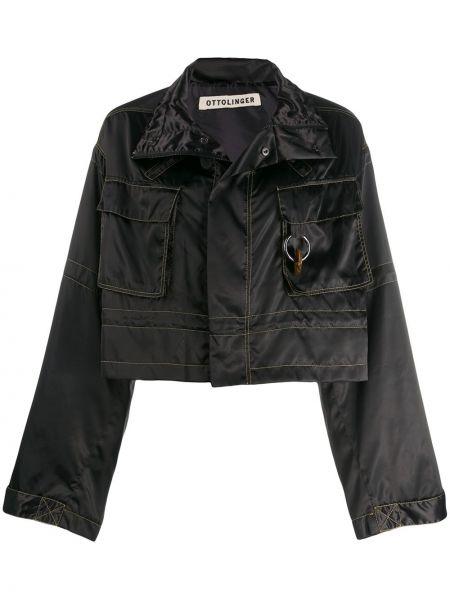 Черная короткая куртка Ottolinger