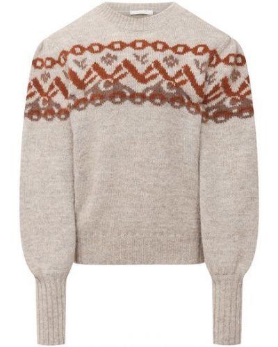 Серый шерстяной свитер Chloé