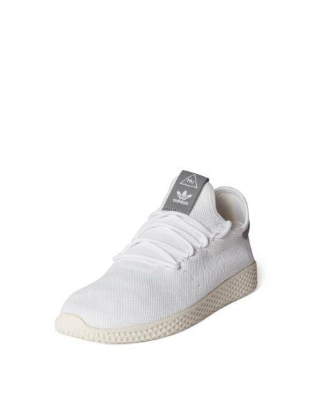 Białe sneakersy z printem materiałowe Adidas Originals