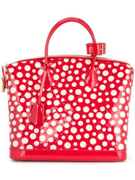 Кожаная сумка в горошек сумка-тоут Louis Vuitton