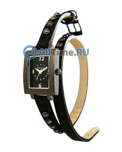Часы на кожаном ремешке черные кварцевые Tokyobay