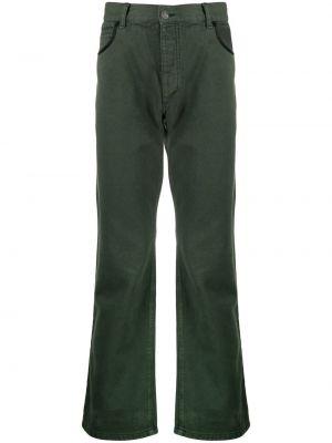 Zielone klasyczne jeansy z paskiem Phipps