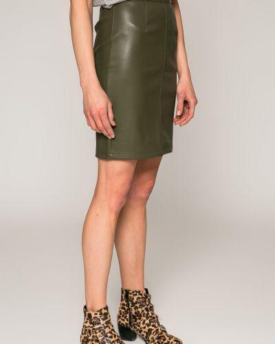 Кожаная юбка карандаш с поясом Noisy May