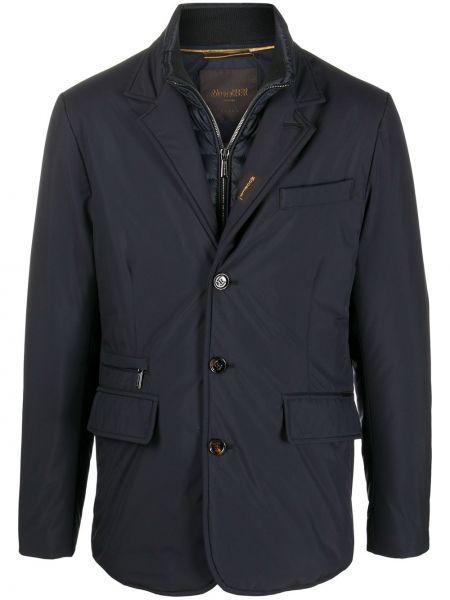 Акриловый однобортный пиджак на пуговицах с карманами Moorer